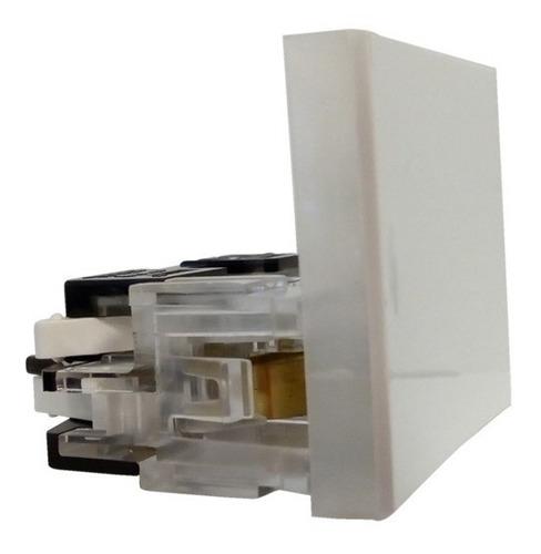 interruptor combinacion 1 tecla 10a blanco 2 modulos 1