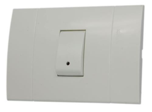 interruptor conmutable sencillo con luz piloto lunares ue20