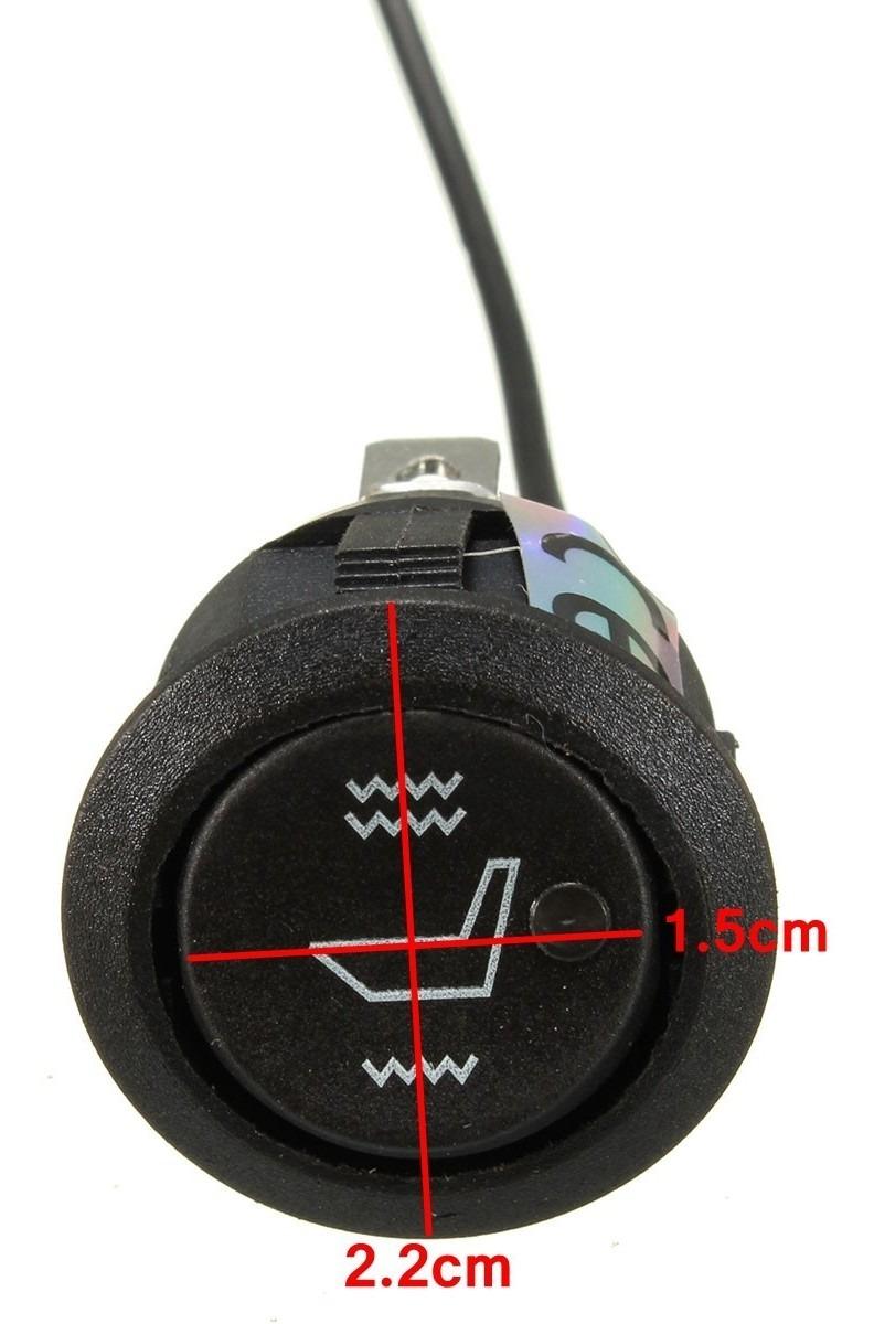 Interruptor basculante redondo del calentador del asiento 2x Interruptor calefactor del asiento del autom/óvil 12V Universal 3 pines Calentador redondo Interruptor basculante del asiento del autom/óvil