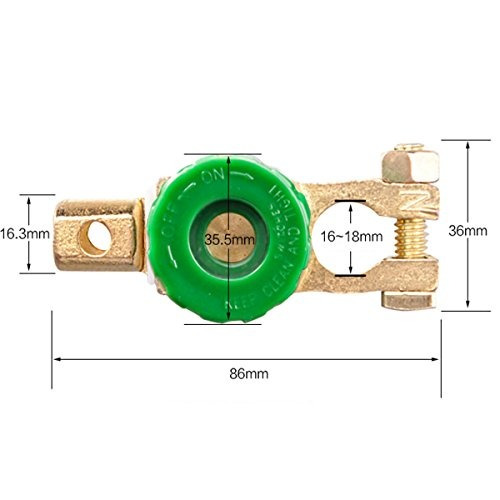 Jtron 400A Battery Master Disconnect Switch Copper