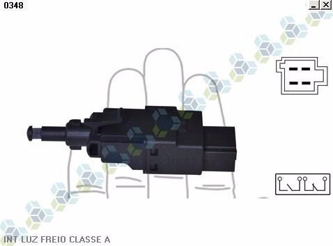 interruptor de luz de freio mb série c - 3rho