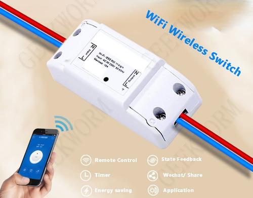 interruptor de luz wifi con celular y de pared sonoff