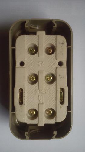 interruptor de pared bipolar bticino 602 32a 380v