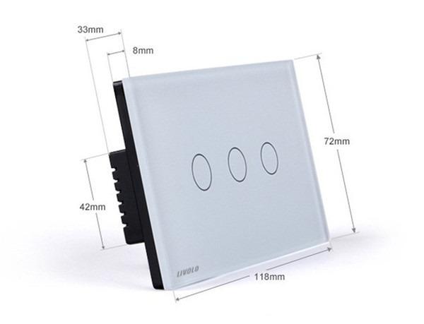 Interruptor de parede 3 vias touch screen sens vel ao for Interruttori touch