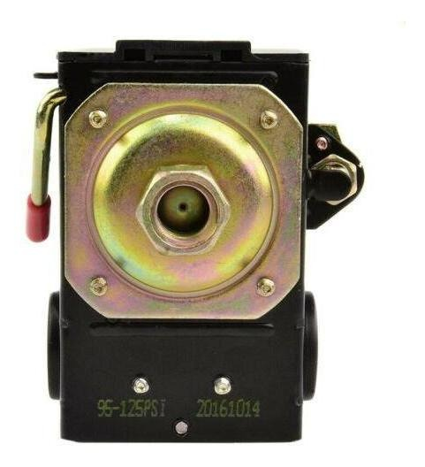 Lefoo Interruptor de Presión para Compresor de aire 95-125 PSI de un solo puerto con descargador