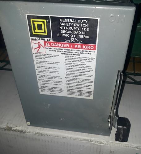 interruptor de seguridad de servicio general  30a  240 vac