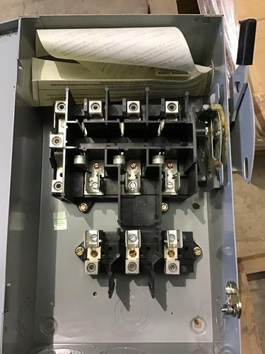 interruptor de seguridad eaton cutler hammer  cat. dg322ngb