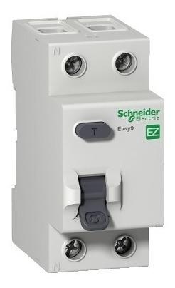 interruptor diferencial residual easy9 2p 30ma 80a classe ac schneider ez9r33280