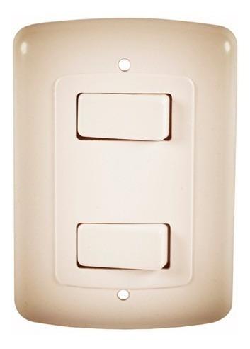 interruptor doble beige horus