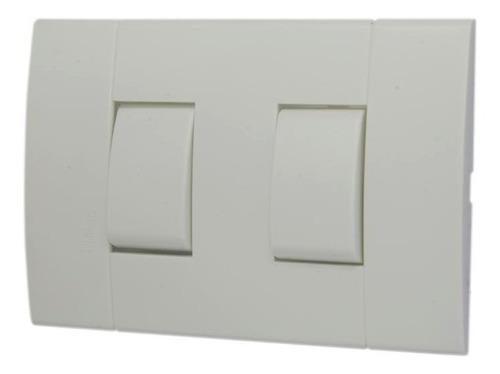 interruptor doble c/placa blanco 10a-250v lunare schneider p