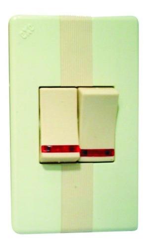 interruptor doble luz piloto abitare marfil ave 911-lp antes