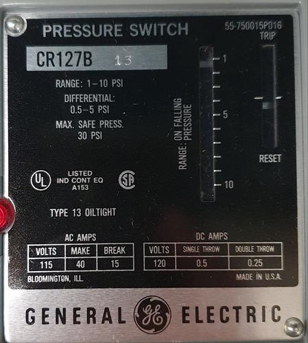 interruptor ge de presión cr127b13