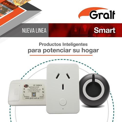 interruptor inteligente domotica wifi 220v 10a gralf smbox