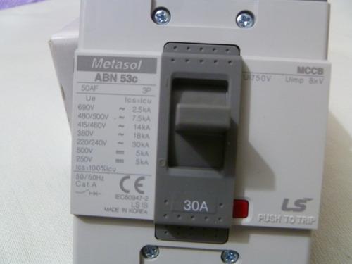 interruptor ls metasol abn53c de 30a. 3polos 690vac