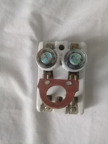 interruptor o cuchilla antigua con sus fusibles segunda mano