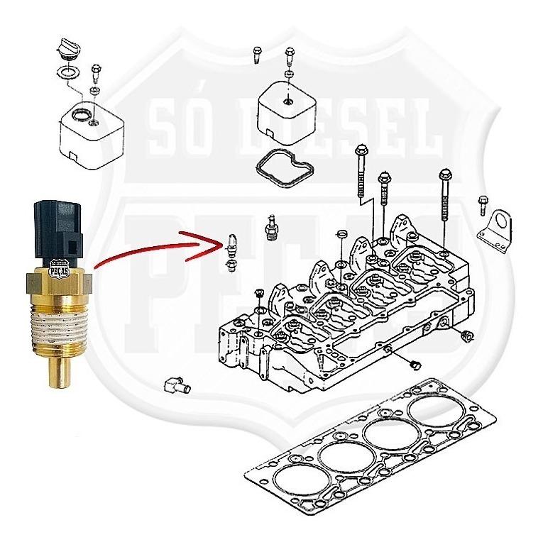 interruptor sensor temperatura f4000 1999/2013 cummins 4bt