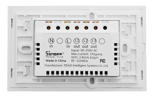 interruptor sonoff touth screen 2 botões wi-fi google home