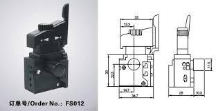 interruptor suichet conmutador reversa para taladro
