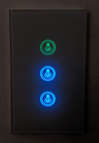 interruptor - switch de pared inteligente wifi 3 en 1