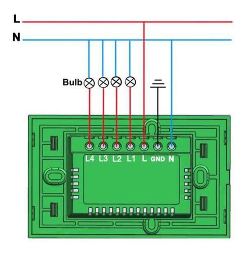 interruptor switch pared doble y triple wifi inteligente
