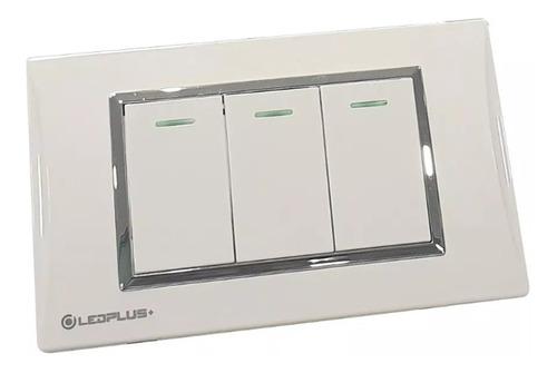 interruptor switch triple blanco para casa u oficina 110/220