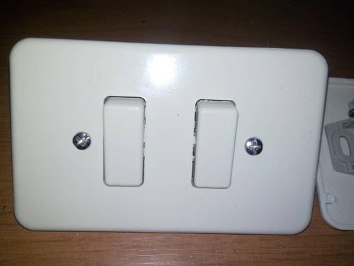 interruptor switche prende apaga tipo ticino doble calidad