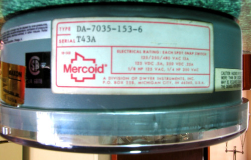 interruptor temperatura  dwyer mercoid da- 7035-153-6