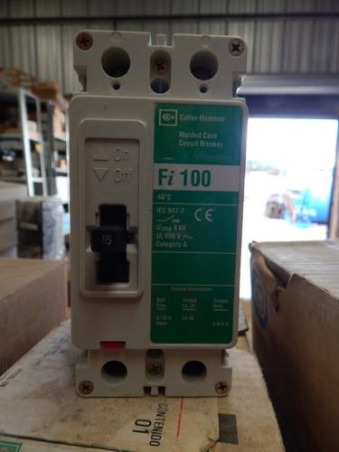 interruptor termo magnético 15 amp, 2 polos