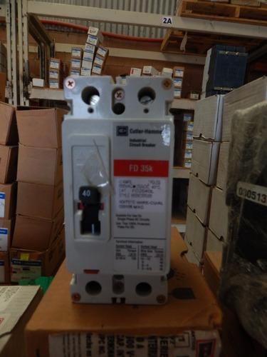 interruptor termo magnético 40amp, 2 polos