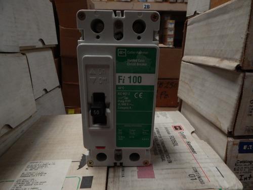 interruptor termo magnético 50amp, 2 polos