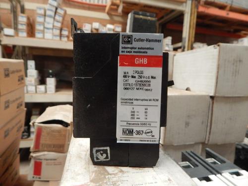 interruptor termo magnético  60amp, 2 polos
