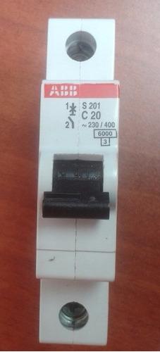 interruptor termomagnetico abb s201 c20