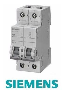 interruptor termomagnetico siemens 2x6amp 2 polos/ riel din