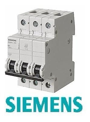interruptor termomagnetico siemens 3x40amp 3 polos/ riel din