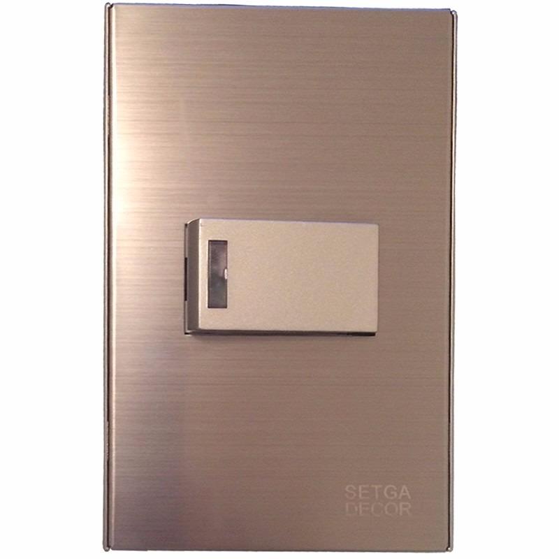 Interruptor tomada simples inox tipo a o escovado luxo - Interruptores y enchufes baratos ...