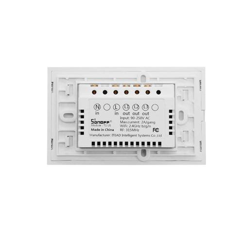 interruptor touch de pared sonoff de 2 apagadores cdmx elect