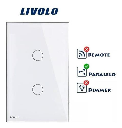 interruptor touch livolo 2 vias paralelo / three-way