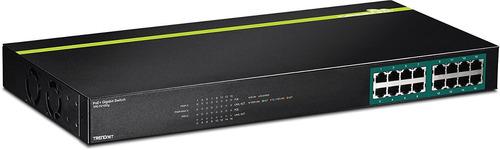 interruptor trendnet gigabit poe + (tpe-tg160g), negro