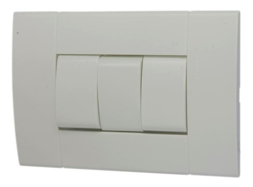 interruptor triple c/placa blanco 10a-250v lunare schneider
