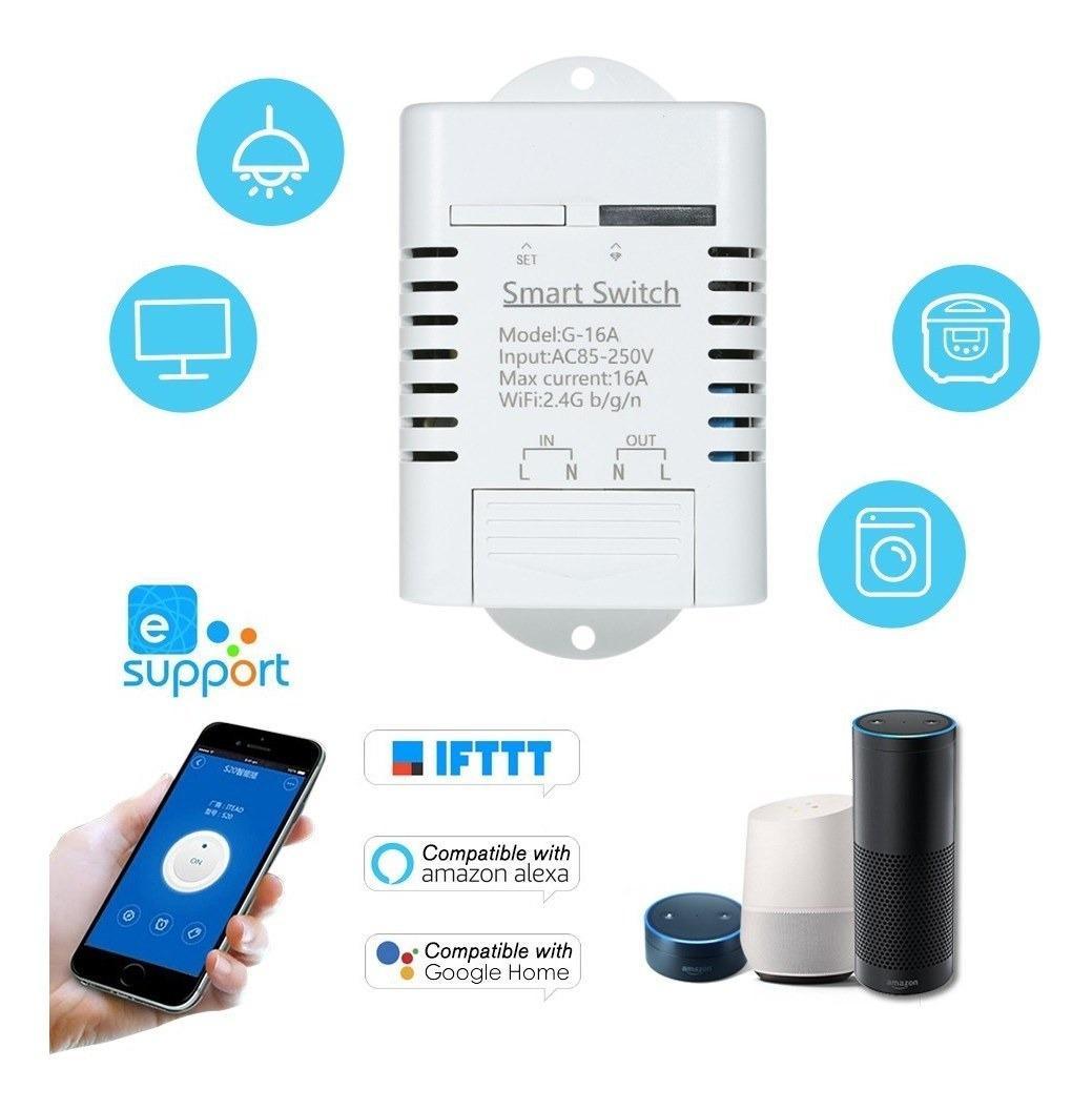 Interruptor Wifi Inteligente Compatible Con Sonoff Y Ewelink