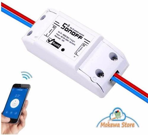 interruptor wifi remoto conmutador switch sonoff 10a 220vac
