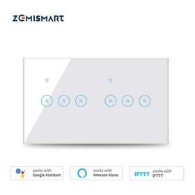 Interruptor Wifi Touch 6 Teclas Smart Home - Alexa Google