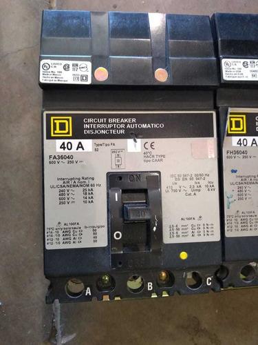 interruptores 40 amp square d cat. fa36040