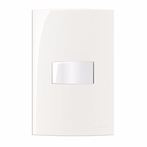 interruptores e tomadas luxo branco esmalte margirius sleek