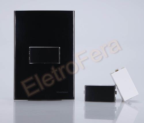 interruptores e tomadas luxo preto black piano