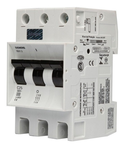 interruptores termomagnetico 3-50 montaje en riel omega siem