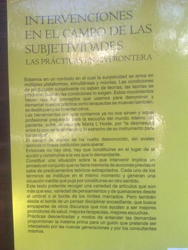 intervenciones en campo de subjetividades - muniz martoy