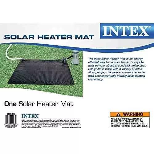 intex estera solar del calentador para la piscina, 47 x 47