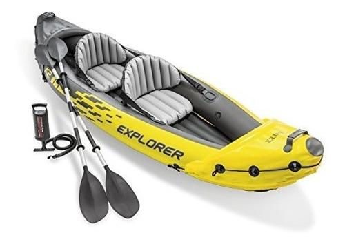intex explorer k2 kayak 2person kayak inflable conjunto con