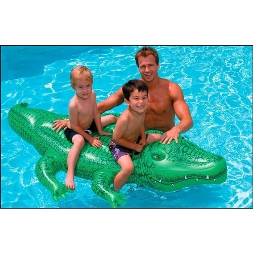 intex giant gator ride-on, 80  x 45 , para mayores